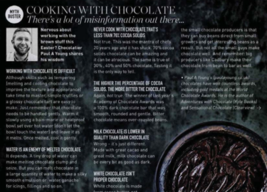Paul A Young Fine Chocolates coverage in Delicious Magazine, 1 March 2018