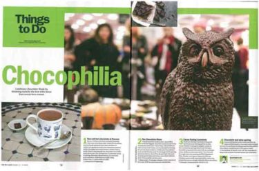 The Chocolate Show coverage in TIMEOUT LONDON, 1 October 2016