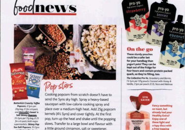 Metcalfe's skinny® coverage in Slimming World Magazine, 1 April 2018