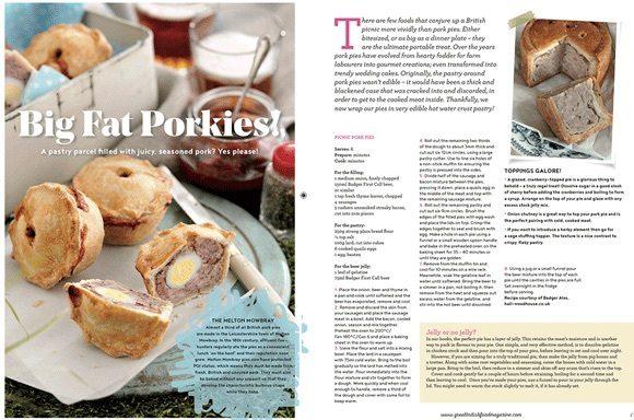 Badger Ales  coverage in Great British Food Magazine, 21 June 2016