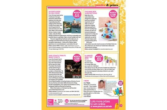 Bake Box  coverage in Yours Magazine, 21 June 2016
