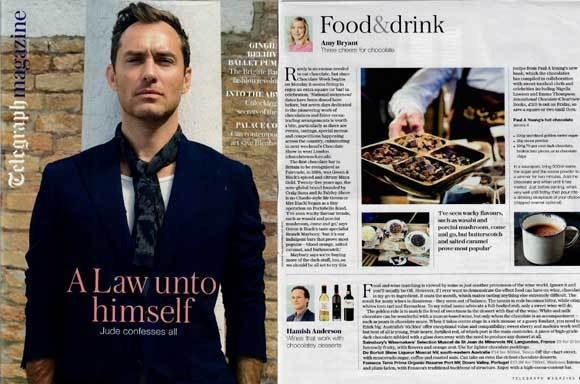 The Chocolate Show coverage in Telegraph Magazine, 7 December 2016