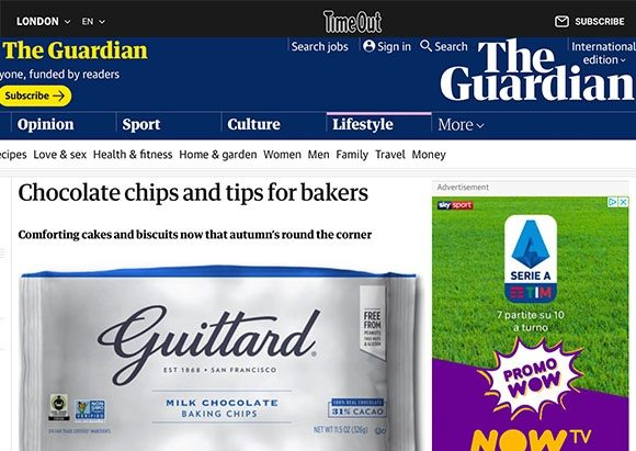 Guittard Chocolate Company coverage in The Guardian, 21 September 2020