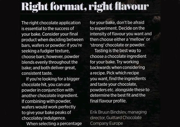 Guittard Chocolate Company coverage in The British Baker, 2 March 2020