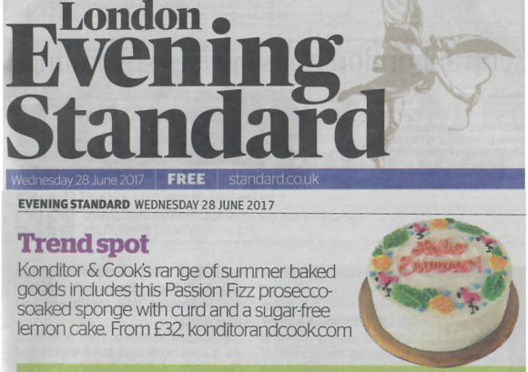 Konditor & Cook coverage in Evening Standard, 24 October 2017