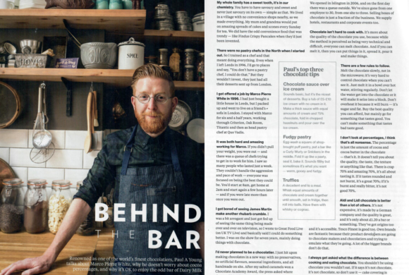 Paul A Young Fine Chocolates coverage in National Geographic Food , 16 January 2018