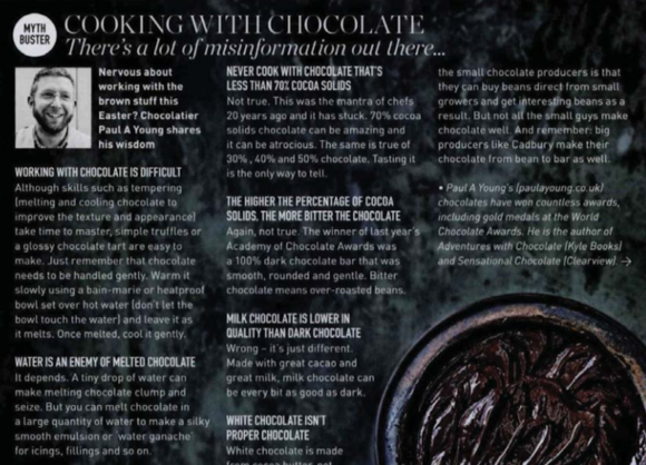 Paul A Young Fine Chocolates coverage in Delicious Magazine, 19 March 2018