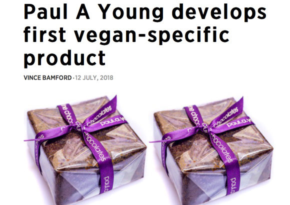 Paul A Young Fine Chocolates coverage in British Baker, 25 July 2018