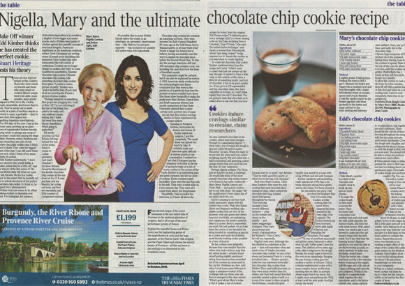 Guittard Chocolate Company coverage in The Times, 23 October 2018