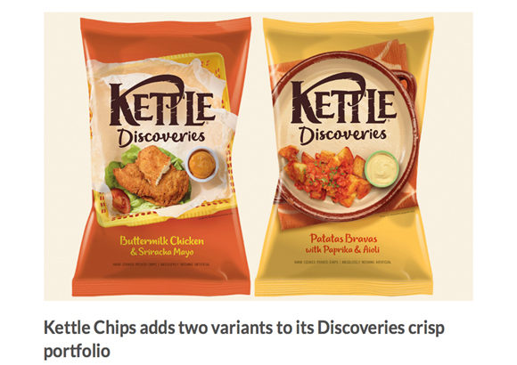 Kettle Chips coverage in Food Bev, 25 July 2018