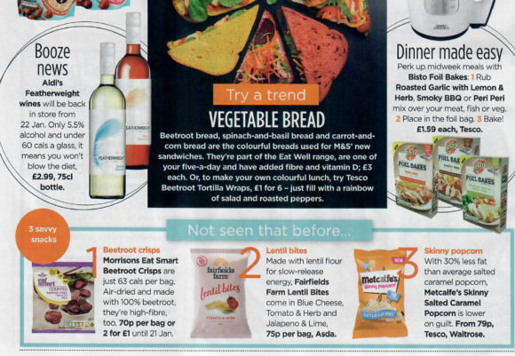 Metcalfe's skinny® coverage in Woman Magazine, 13 February 2018