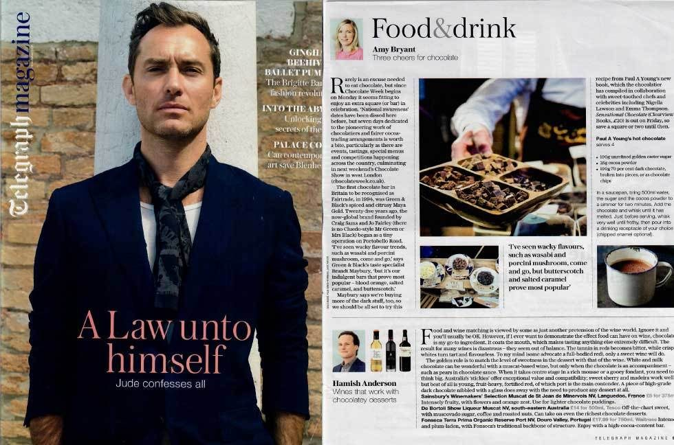Coverage for The Chocolate Show in Telegraph Magazine, 2016-10-08