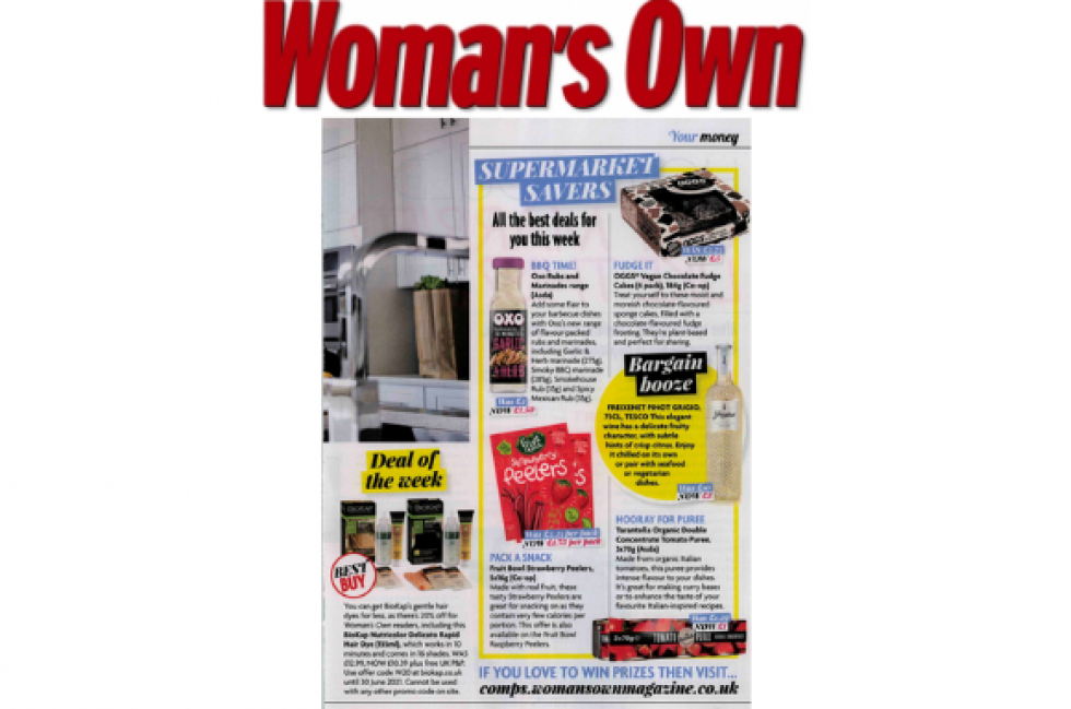 Coverage for Fruit Bowl in Woman's Own, 2021-06-14