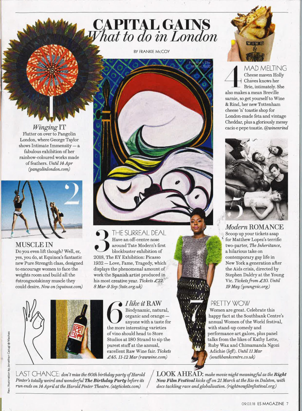 Coverage for RAW WINE in ES Magazine, 2018-03-09