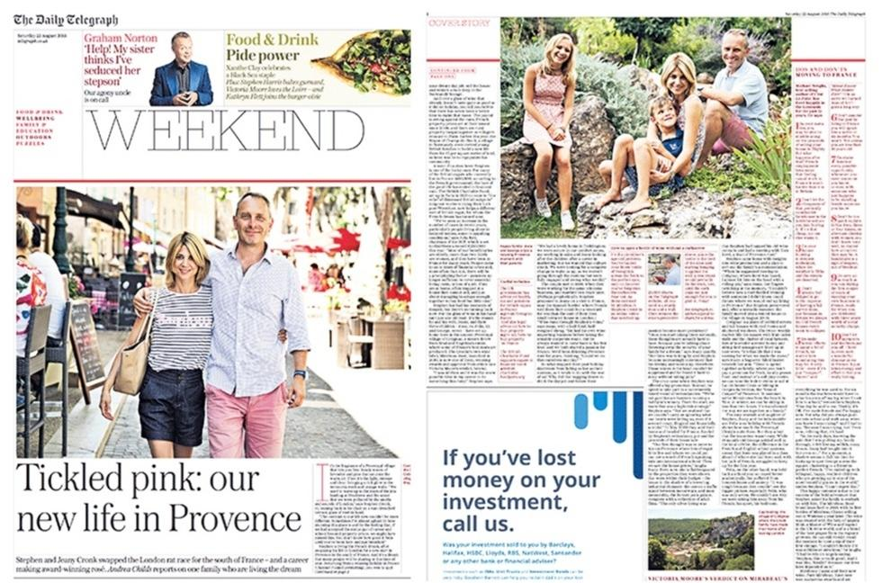 Coverage for  in The Telegraph, 2015-08-22