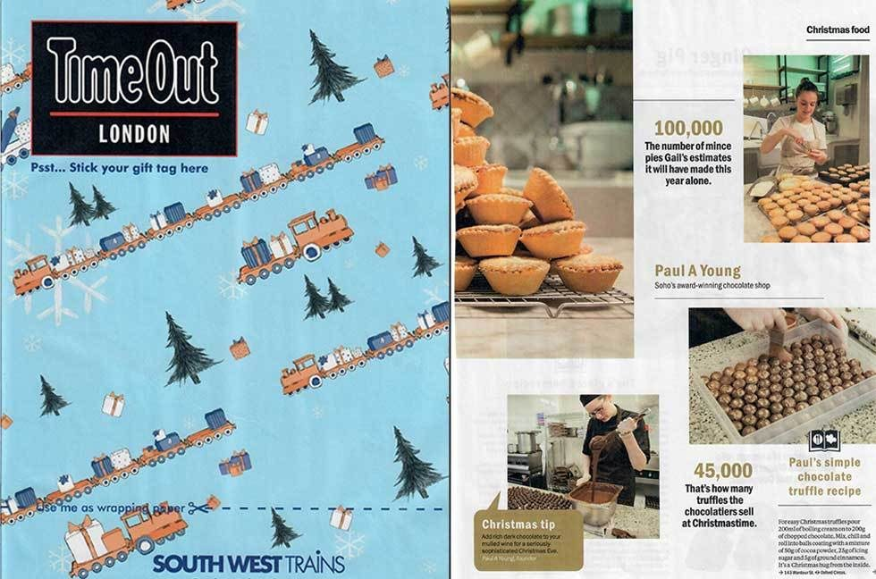 Coverage for Paul A Young Fine Chocolates in Timeout London, 2016-12-20