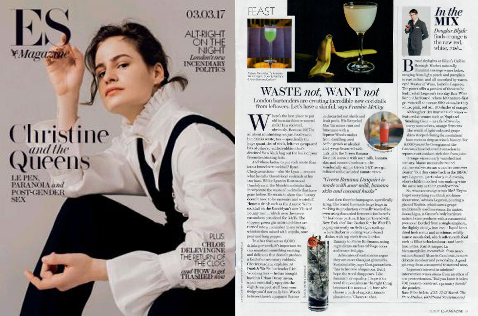 Coverage for RAW WINE in ES Magazine, 2017-03-03