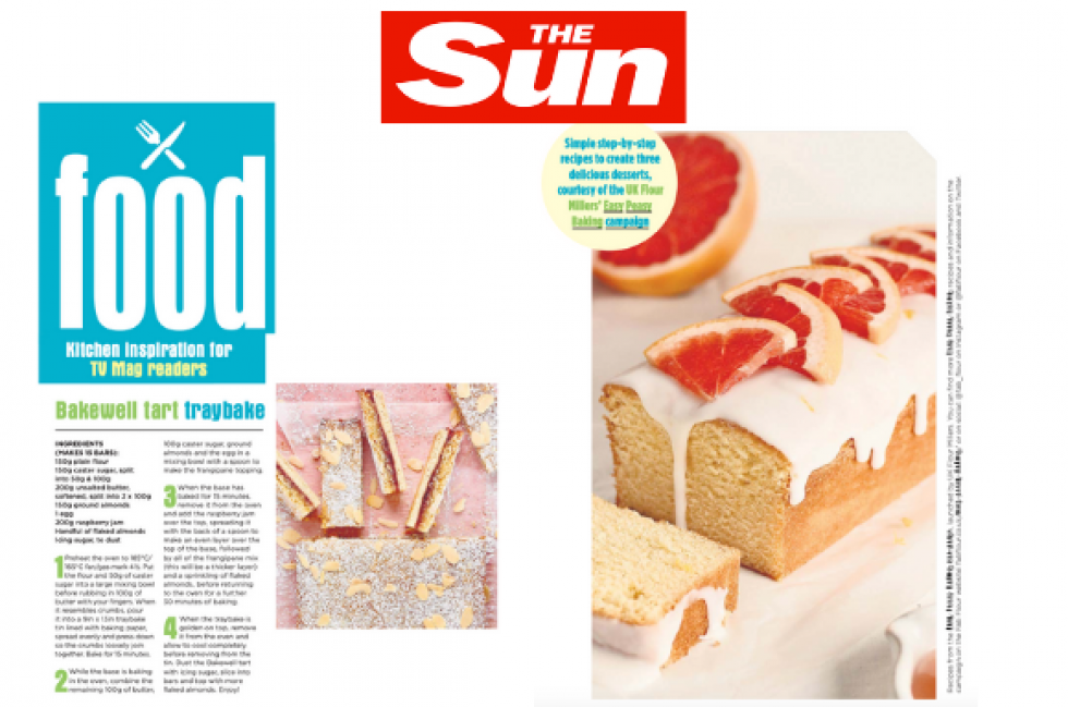 Coverage for UK Flour Millers in The Sun (TV Mag), 2021-08-07