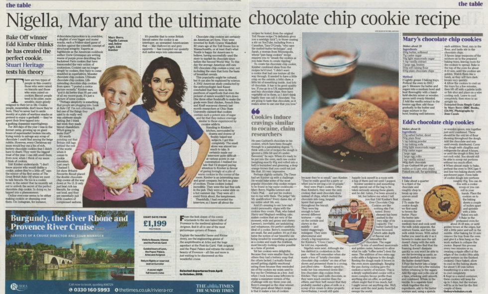 Coverage for Guittard Chocolate Company in The Times, 2018-10-11