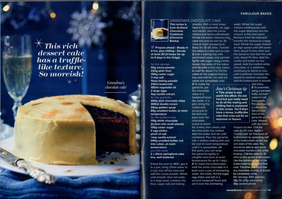 Coverage for Guittard Chocolate Company in Woman & Home, 2017-11-10