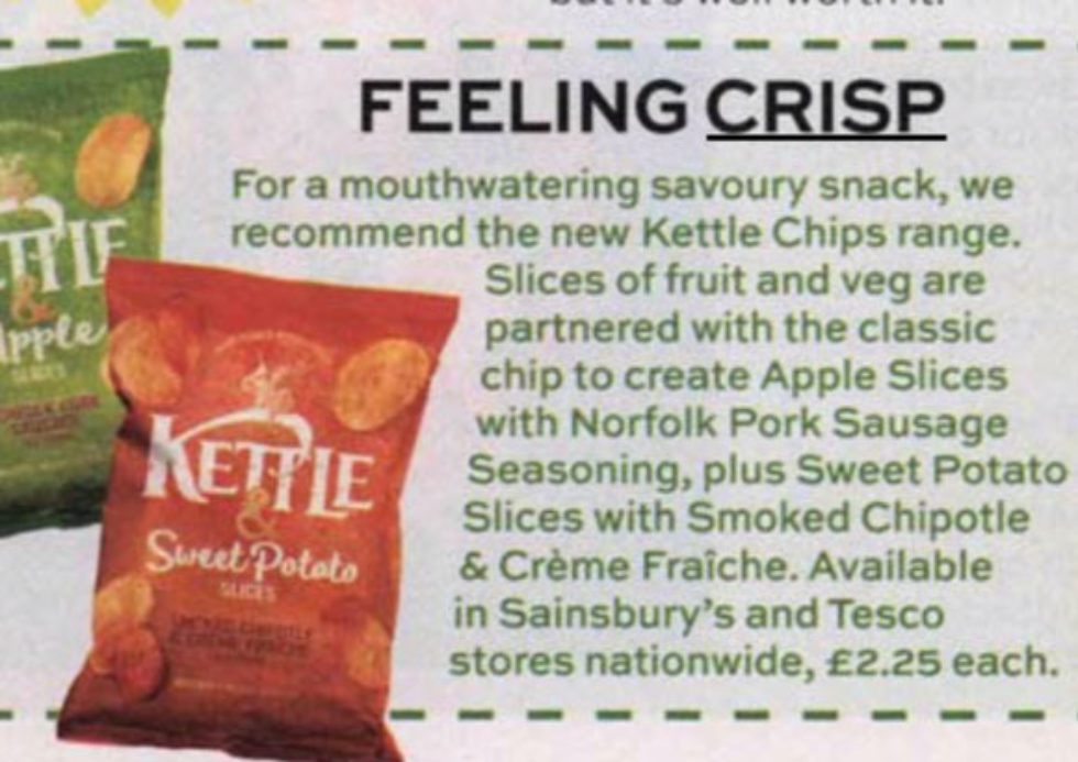 Coverage for Kettle Chips in Best Magazine, 2019-06-13