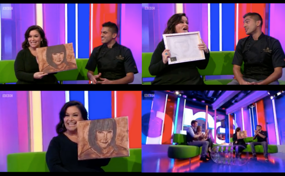 Coverage for The Chocolate Show in The One Show, 2017-10-09